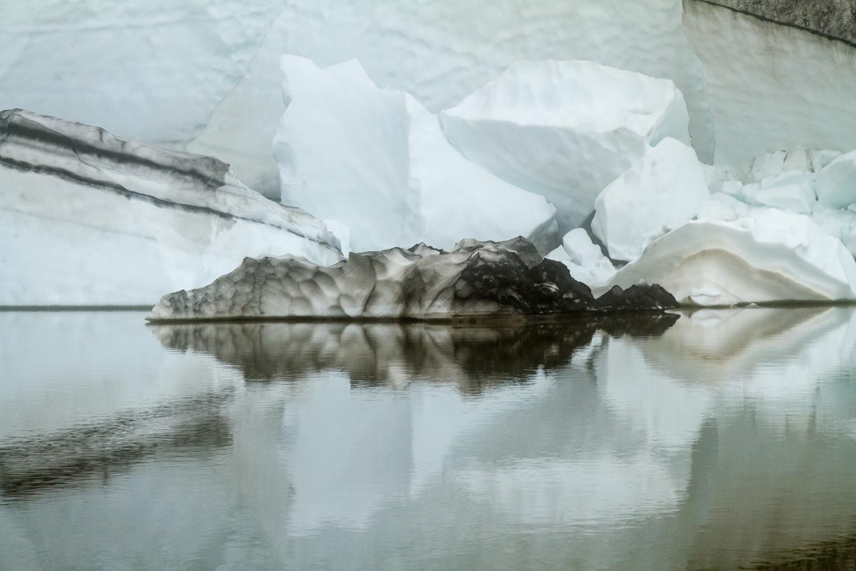 Lake Reflection on Eyjafjallajokull Volcano Hike 1