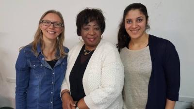 Sanna Sumner, Rev HelenRuth Dorkenoo, Channy Barzely
