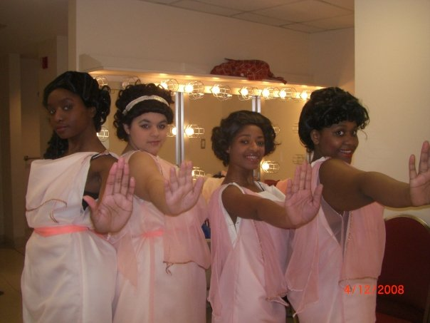 Chorus in Medea (also pictured: Kiandra Layne, Ashley Dunn, and Victoria Coleman)