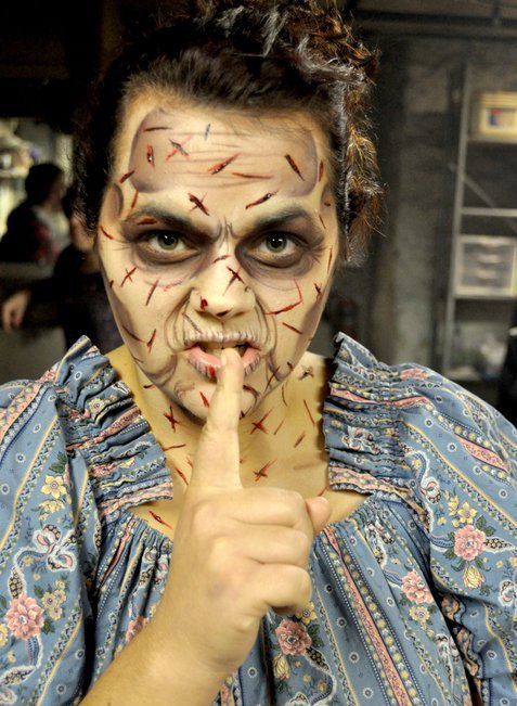 Dent Schoolhouse: Haunted Attraction. Make-up by Aryn Fox