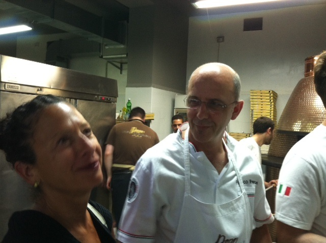 In the kitchen with Franco Pepe after the Dream