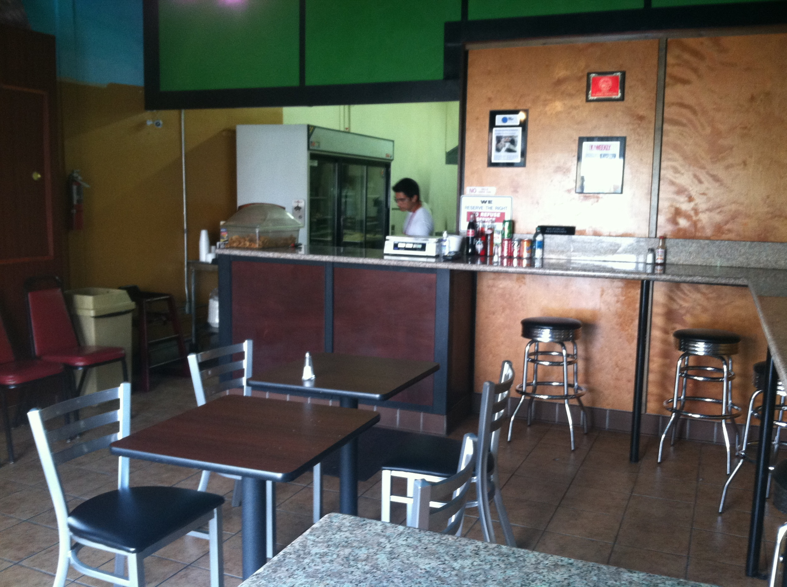 Main dining room of La Azteca,