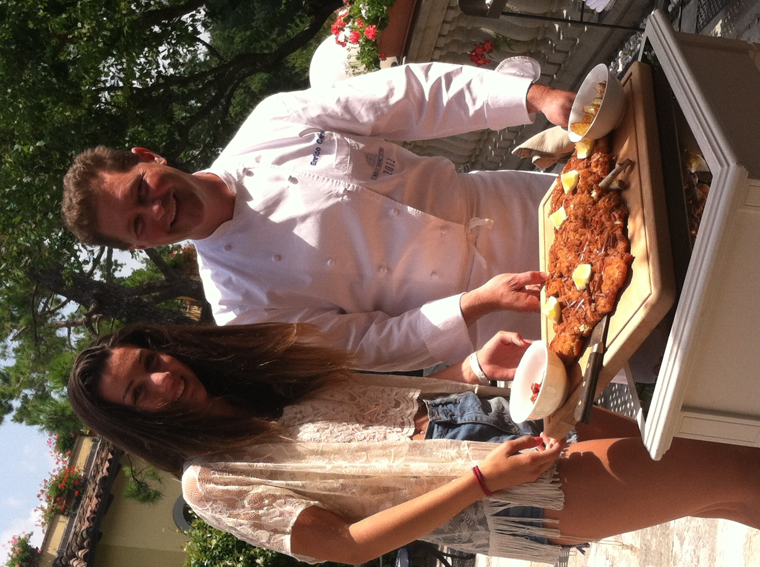 A girl and her 3 Star Milanese with chef Enrico Cerea