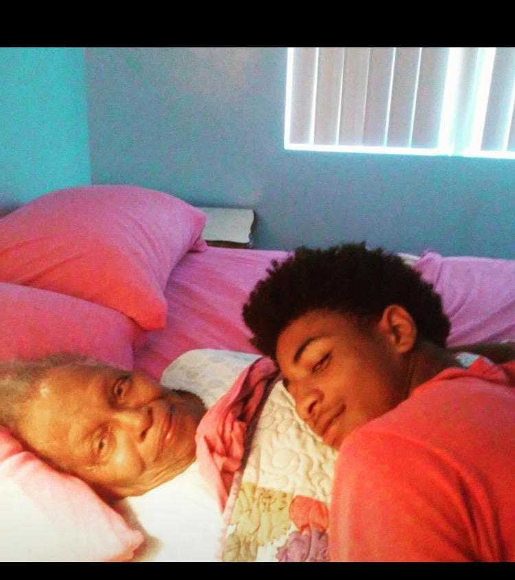 Elijah galbreath leans on his grandma