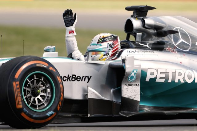 The great Lewis Hamilton who just won his 5th Formula One World Championship, tying Juan Manuel Fangio. (Michael Schumacher won a record 7 times.)