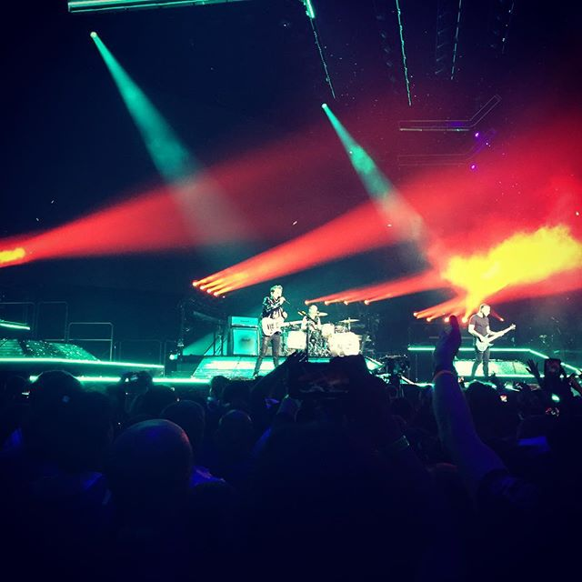 Last night @muse EPIC as always! . . . #muse #houston #concert #toyotacenter #music #epic #lifeexperience