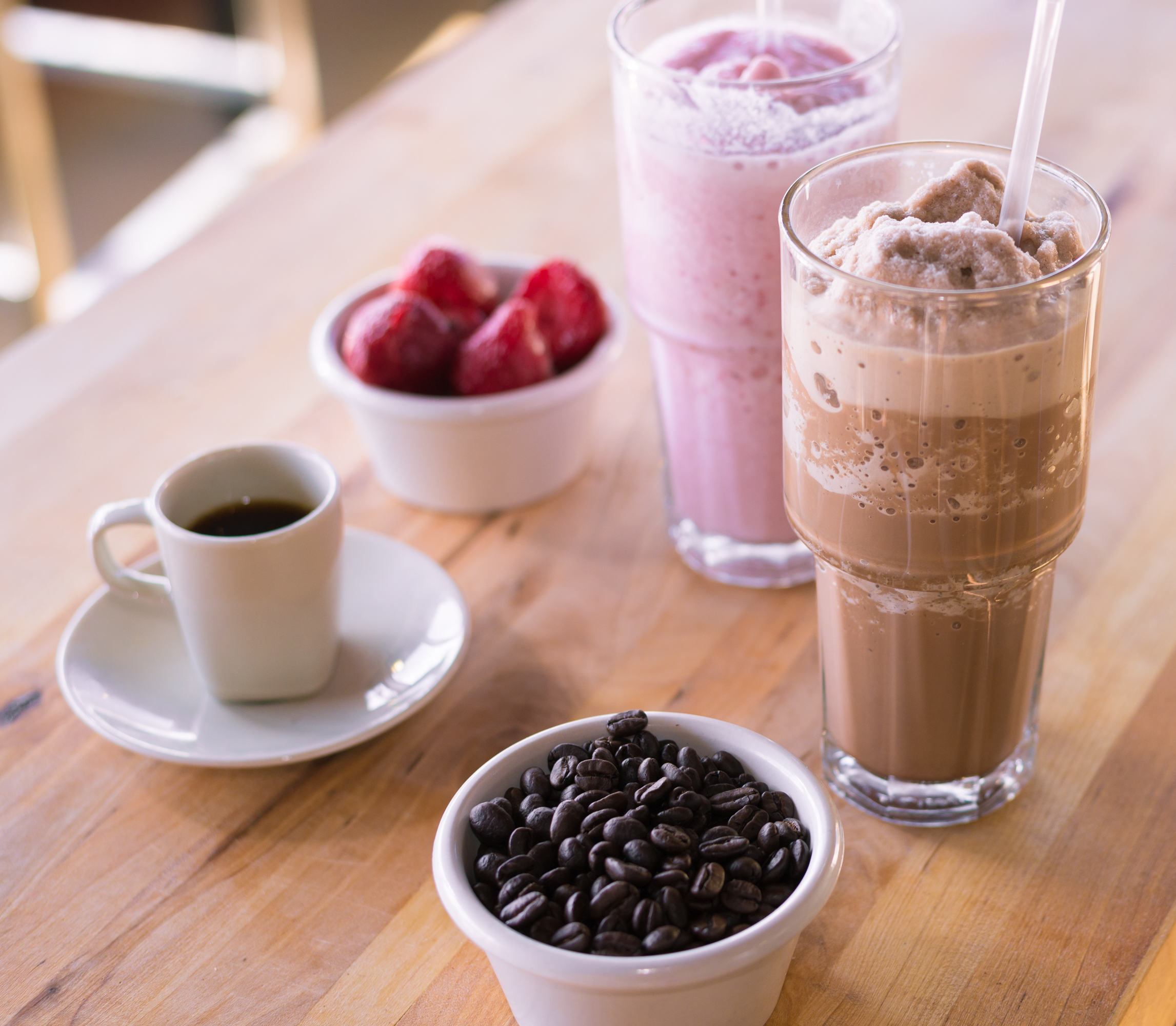 Strawberry Shake and Espresso Shake