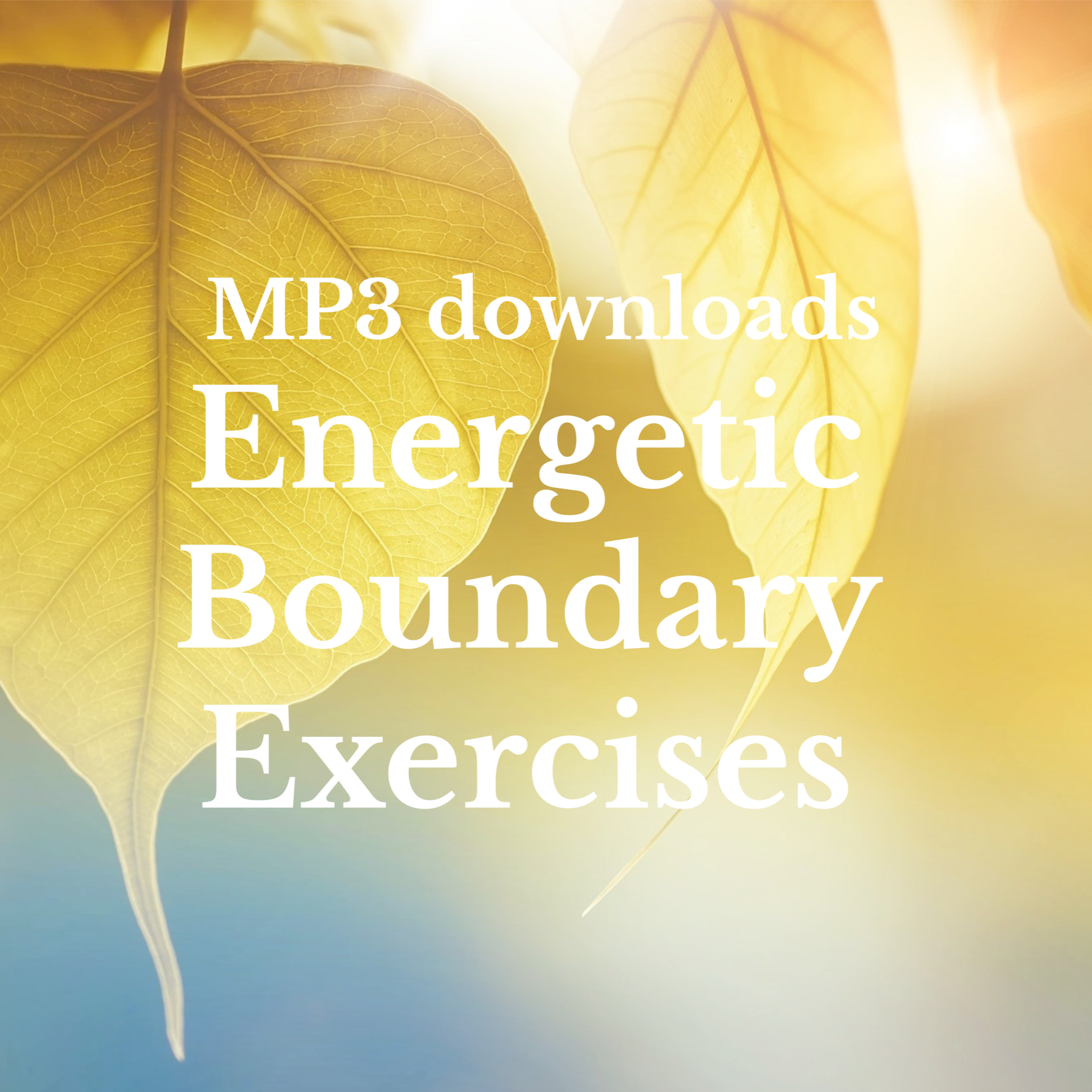 I have lovingly created these recordings to help you tend and maintain your natural energetic boundary whenever and wherever you need the extra support/   Download @ CDbaby
