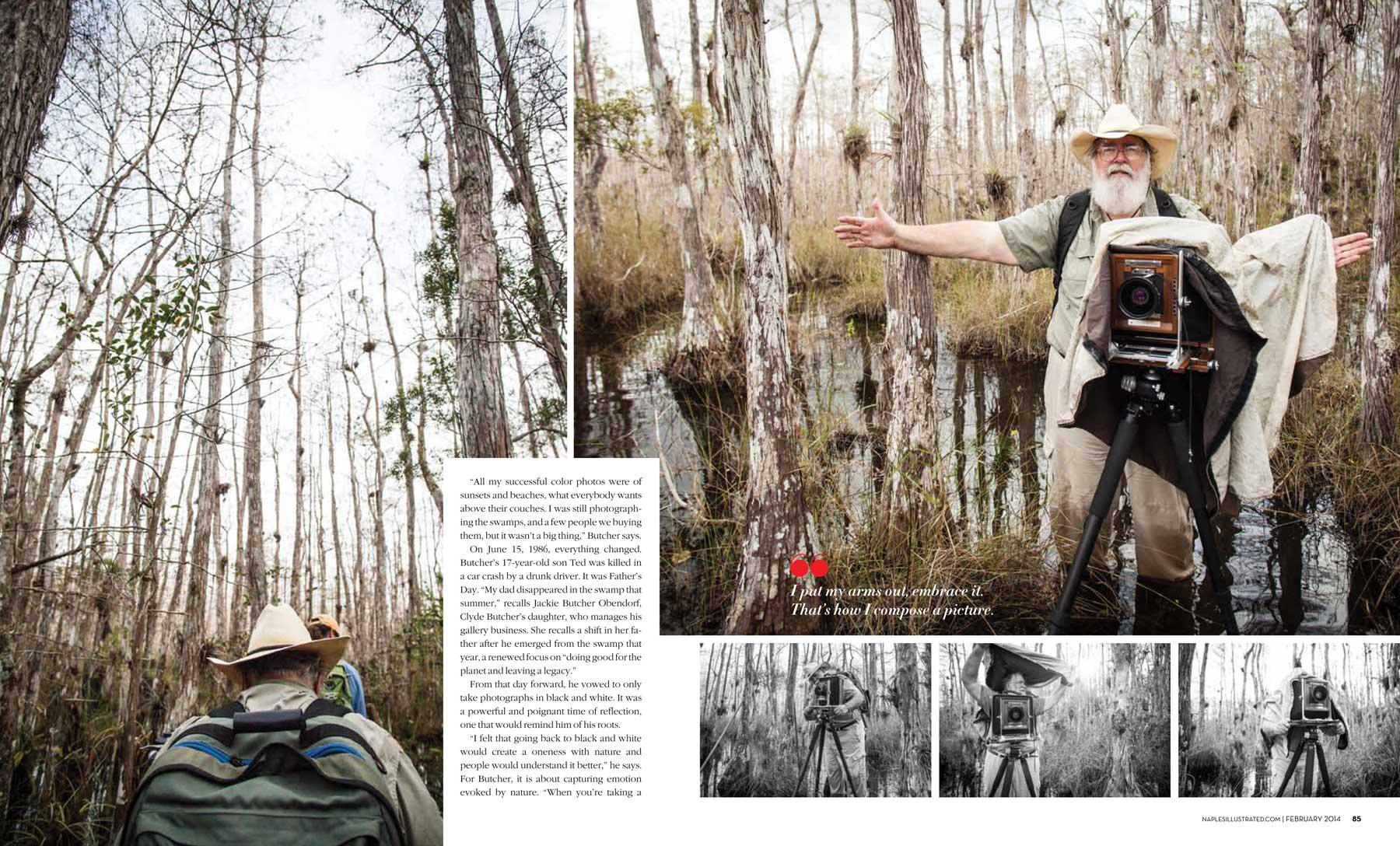 Clyde Butcher, Corkscrew Swamp Sanctuary, Everglades. Copyright 2013 Vanessa Rogers Photography