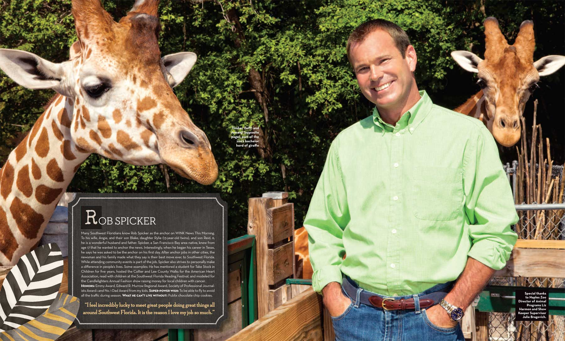 Rob Spicker, Morning News Anchor at Wink-TV Fort Myers, Florida   at the Naples Zoo Copyright Vanessa Rogers Photography 2014