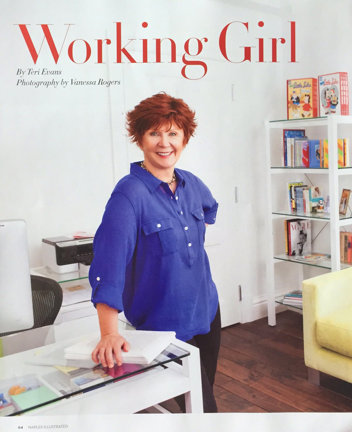 NAPLES_ILLUSTRATED_DECEMBER_ISSUE_2014_JANETT_EVANOVICH_WORKING_GIRL_PHOTOGRAPHED_BY_VANESSA_ROGERS