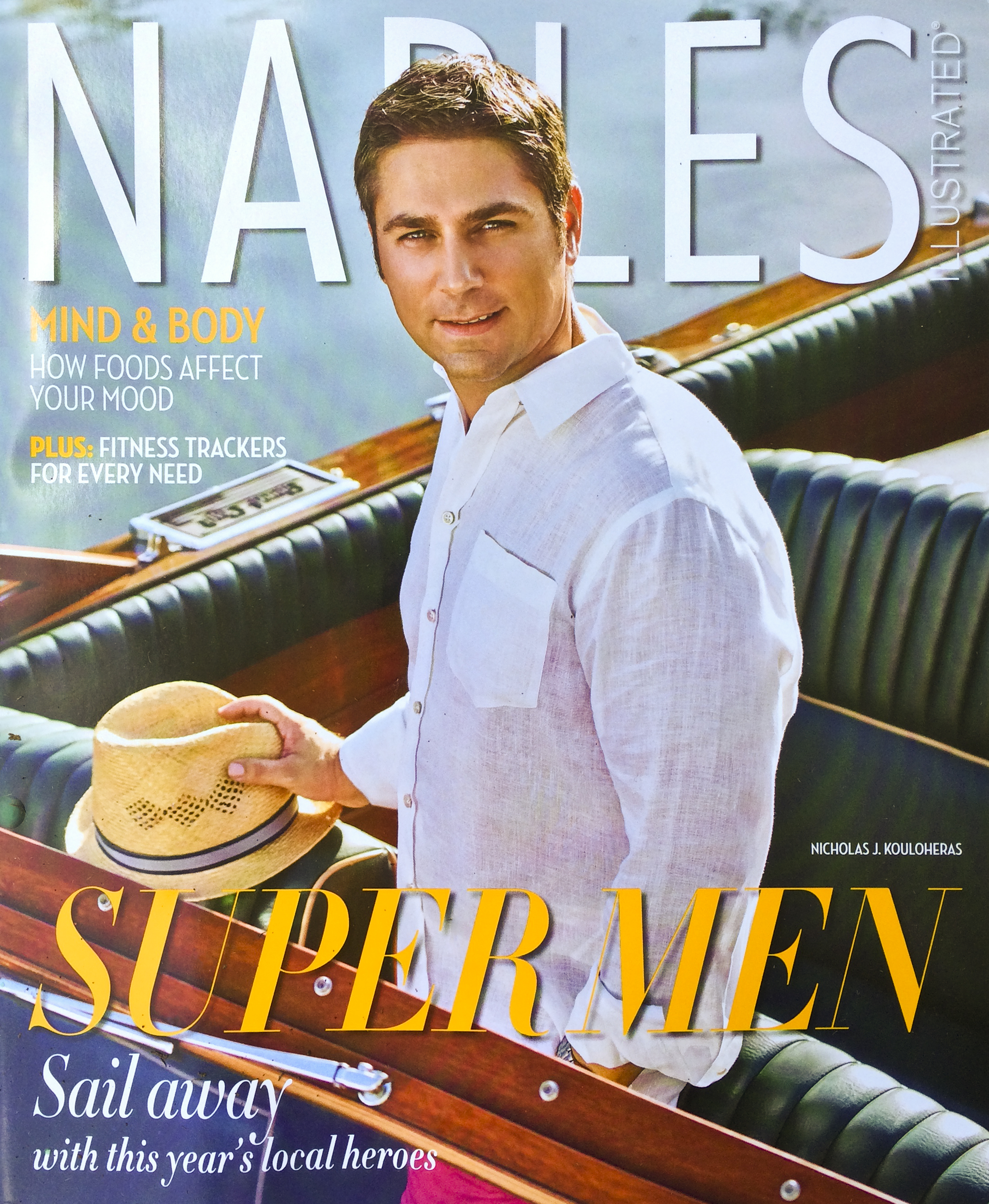 Nicholas Kouloheras on the cover; Styled by: Danielle Vigliotti with Saks Fifth Avenue Naples www.saksfifthavenue.com ; Groomed by: Philip Douglas and Co