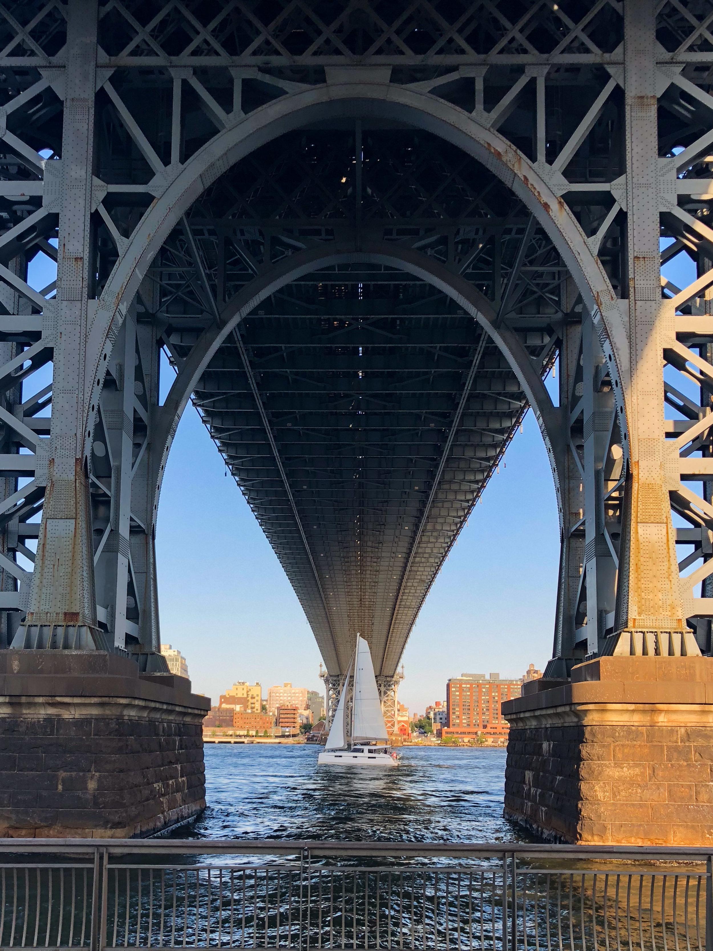 Under the Bridge. Williamsburg Bridge, New York City 2018