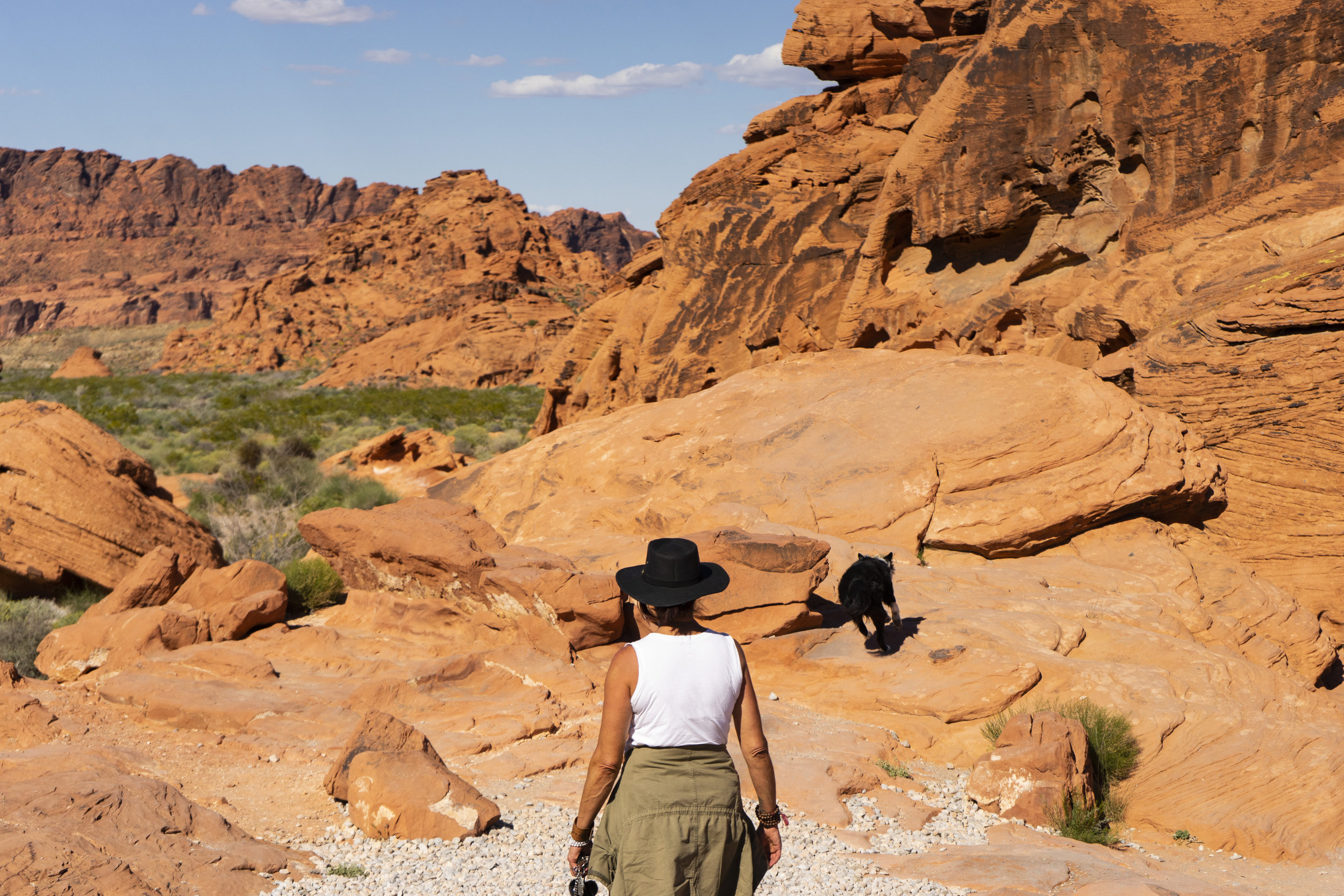 Roni and Scout, Valley of Fire, Las Vegas, Nevada 2019
