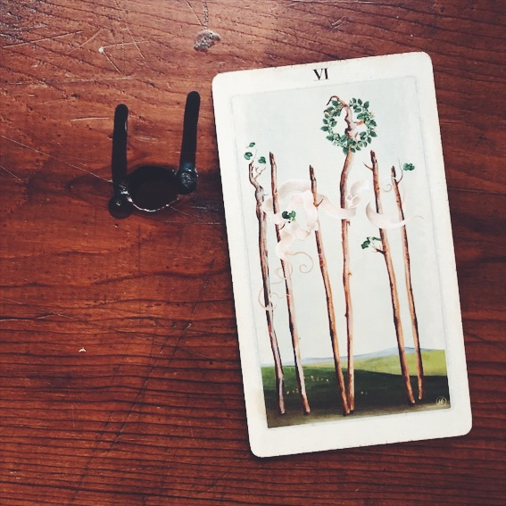 uusi design studio pagan otherworlds tarot 6 of wands