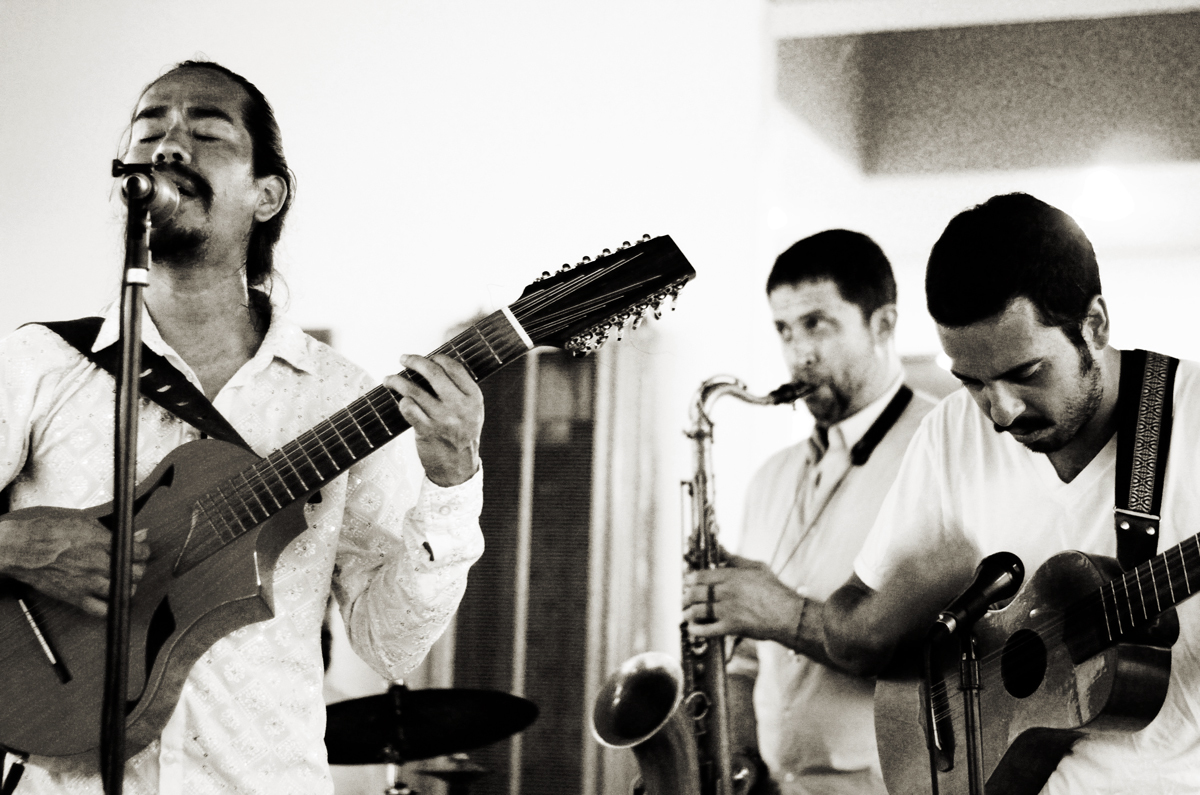 Mexican band, Los Sonex, performs a lively set of music and dance with Veracruz flavor at the Voz Alta. San Diego, 2013