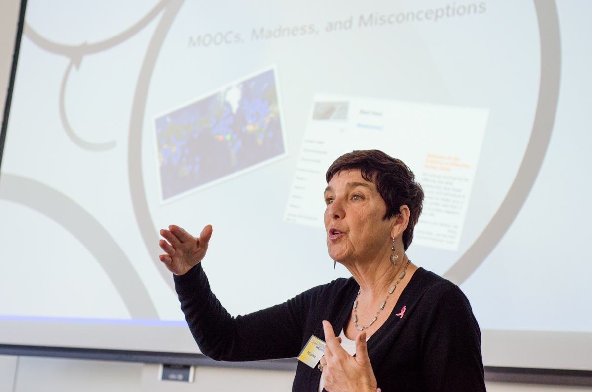 Educator and online learning advocate, Pat James, speaks to community college faculty about Massive Open Online Courses (MOOCs) and its implications for the future of higher education. San Diego, 2013