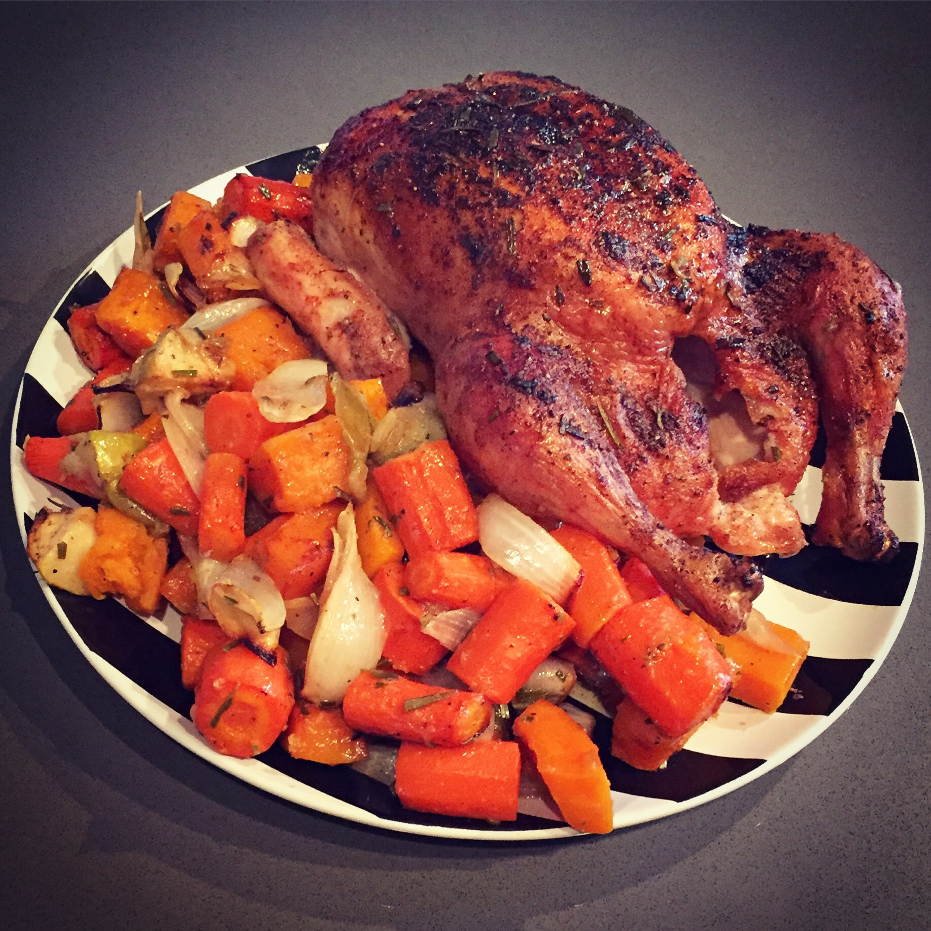 Simple Roast Chicken and Veg