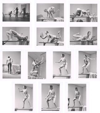 Carolee Schneemann, Interior Scroll,1975,13 gelatin silver prints on fiber paper, each 11x14 in. (28 x 35.5 cm)