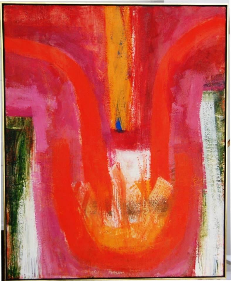 """FRITZ BULTMAN (1919-1985) """"Lap II"""" 1964 Oil on canvas 42 x 36 in"""