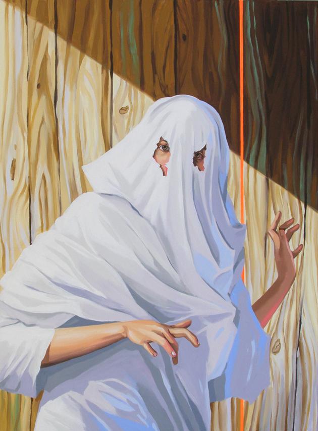 Ghost Training (Mr. Caravaggio)  , Acrylic on canvas, 190 x 140 cm, 2009