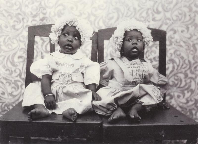 Seydou Keita, Twins in European Dress, Gelatin silver print, 1952-1955