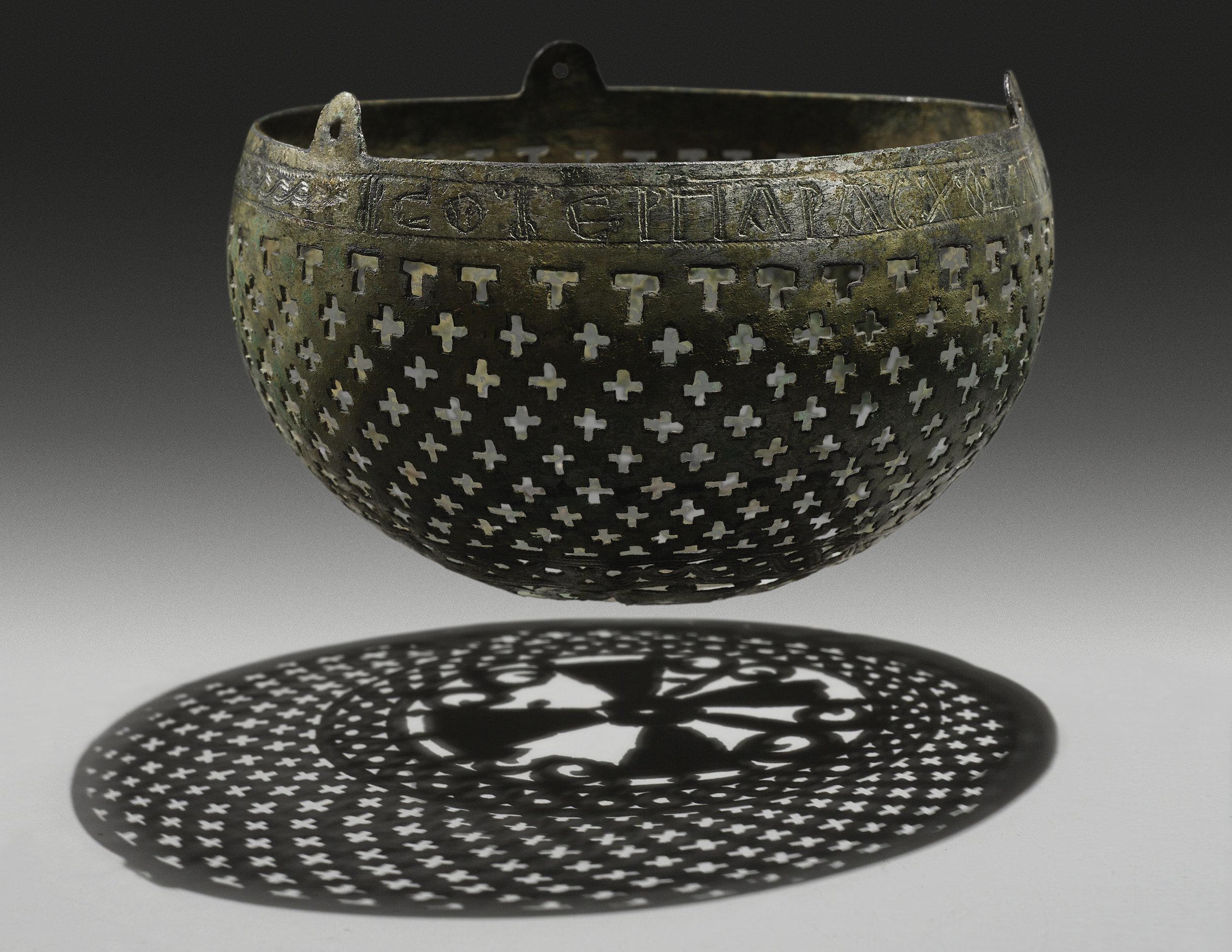 Byzantine Open Work Lamp