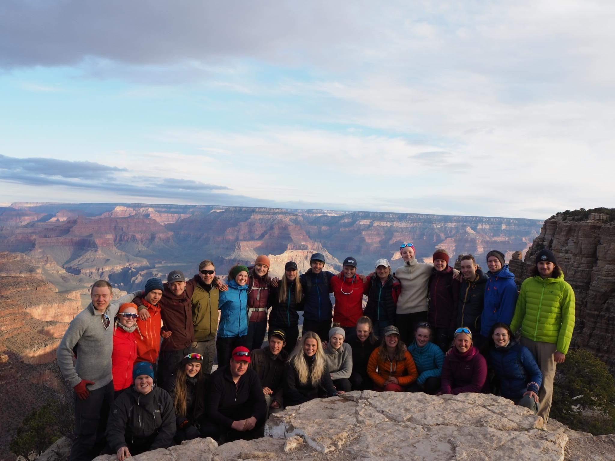 Friluftsliv klassene i Grand Canyon  Foto: Nadia Jensen