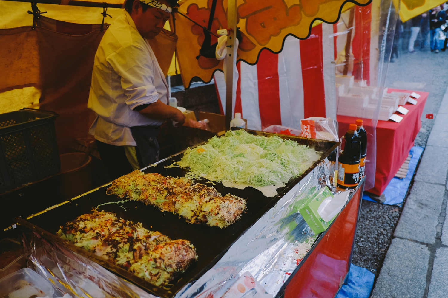 Street Okonomiyaki. There is not a lot (nothing) I wouldn't do to eat these bad boys again.