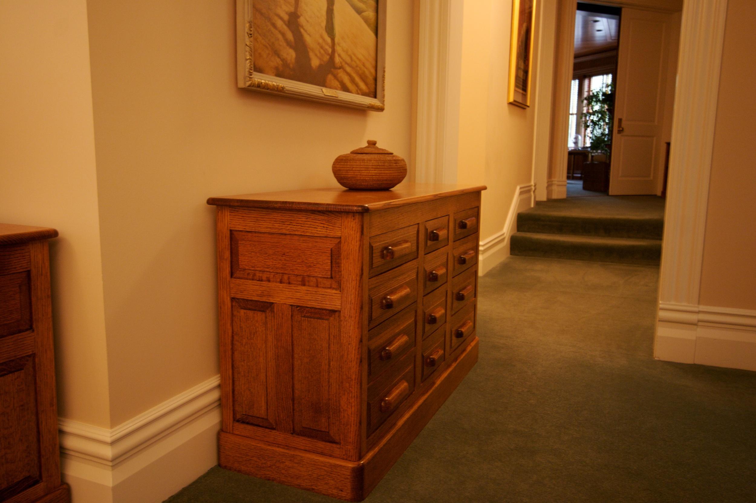 White Oak File Cabinet