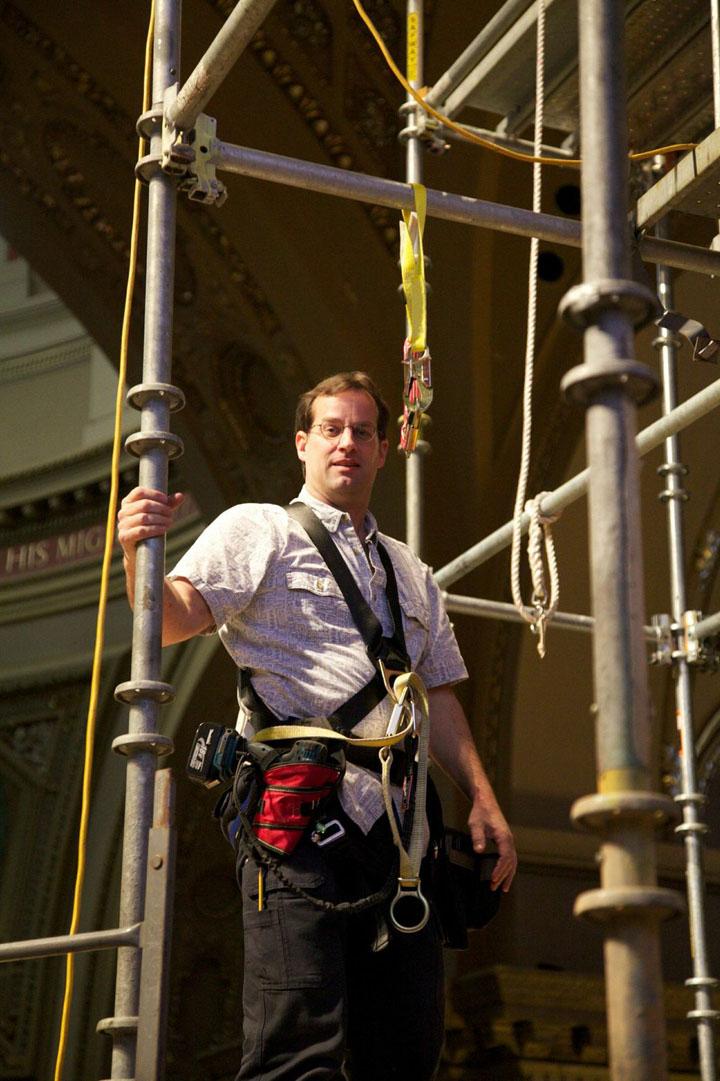 Scott Richter, chief installer.