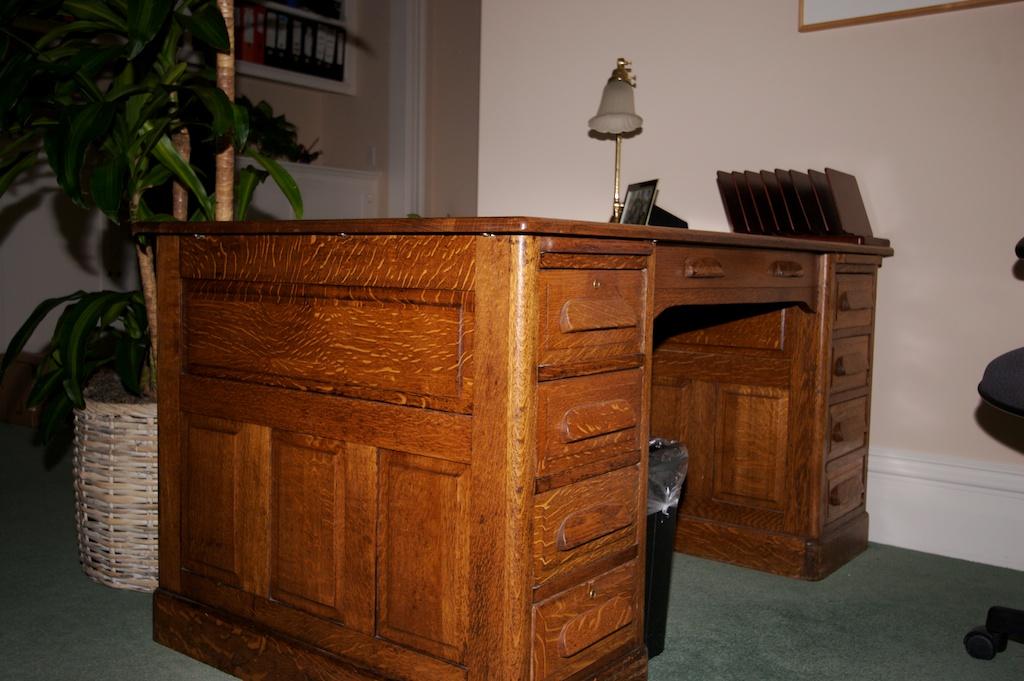 Custom White Oak Desk