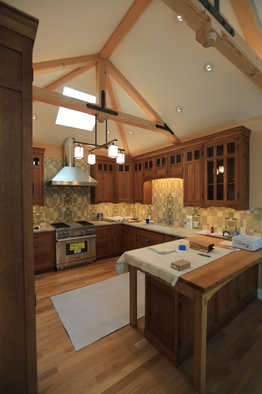 Oak cabinets with Rubio Monocoat finish.