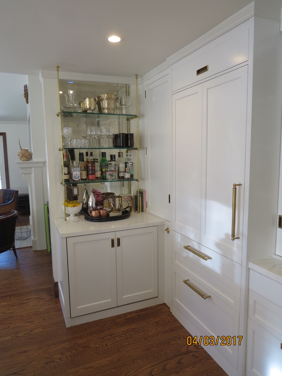 Integral U-line refrigerator and under-counter fridge.
