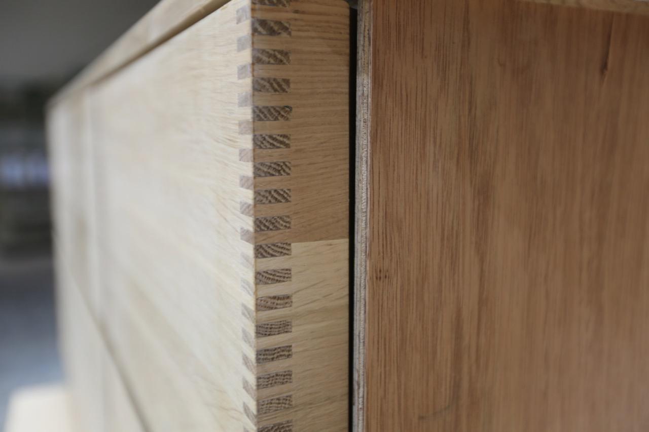 Custom drawer joinery.