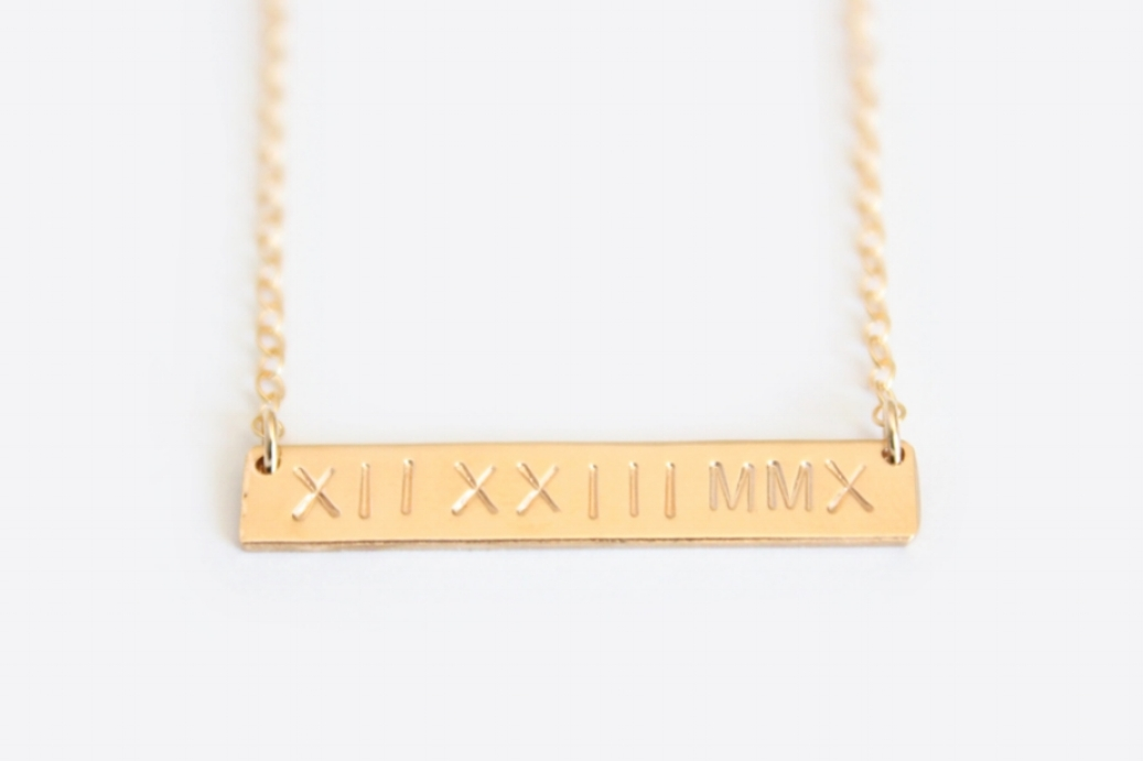 Nameplate Necklace by Junghwa