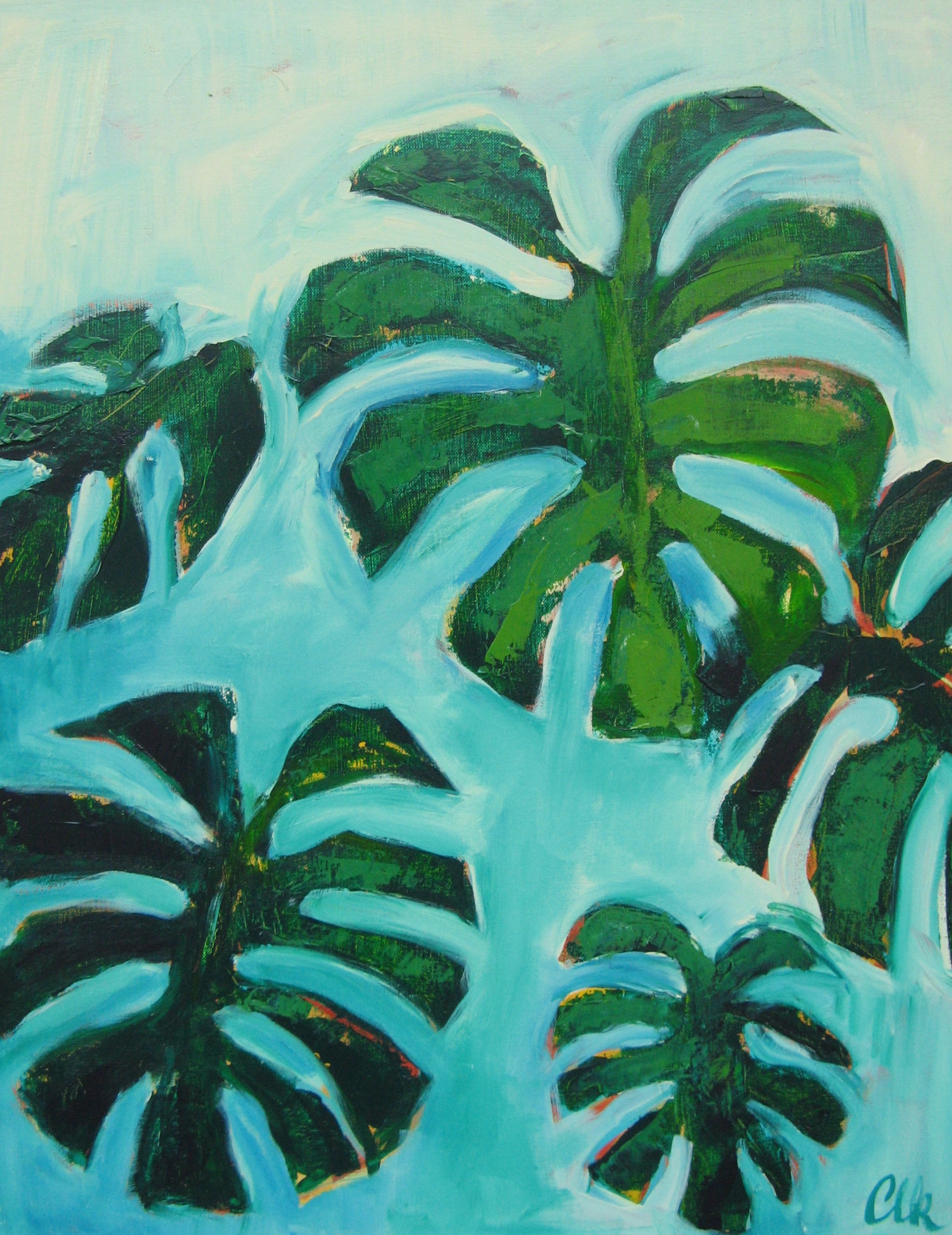 In The Tropics - acrylic on canvas 30x24