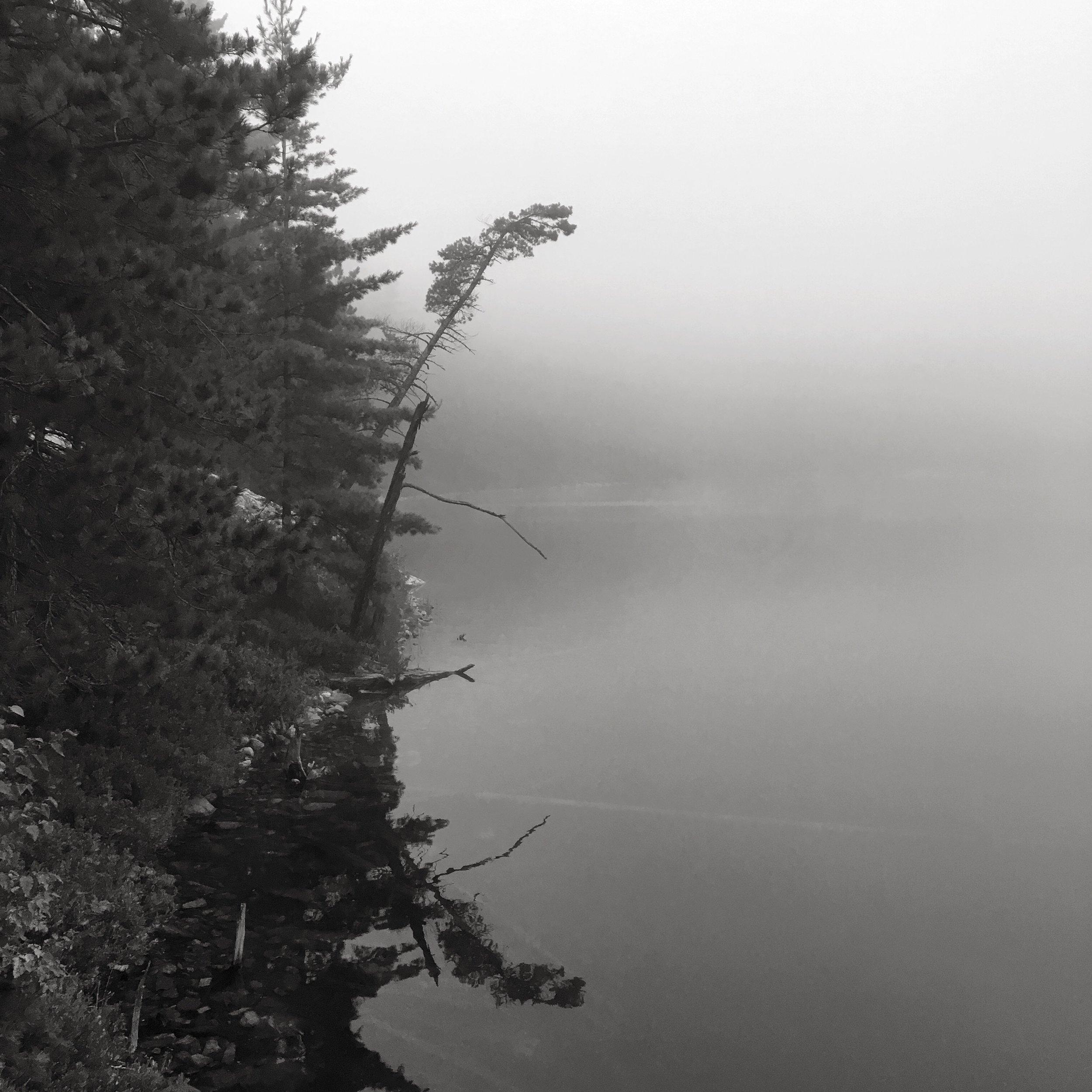 H32 Lake Shiguag in the fog