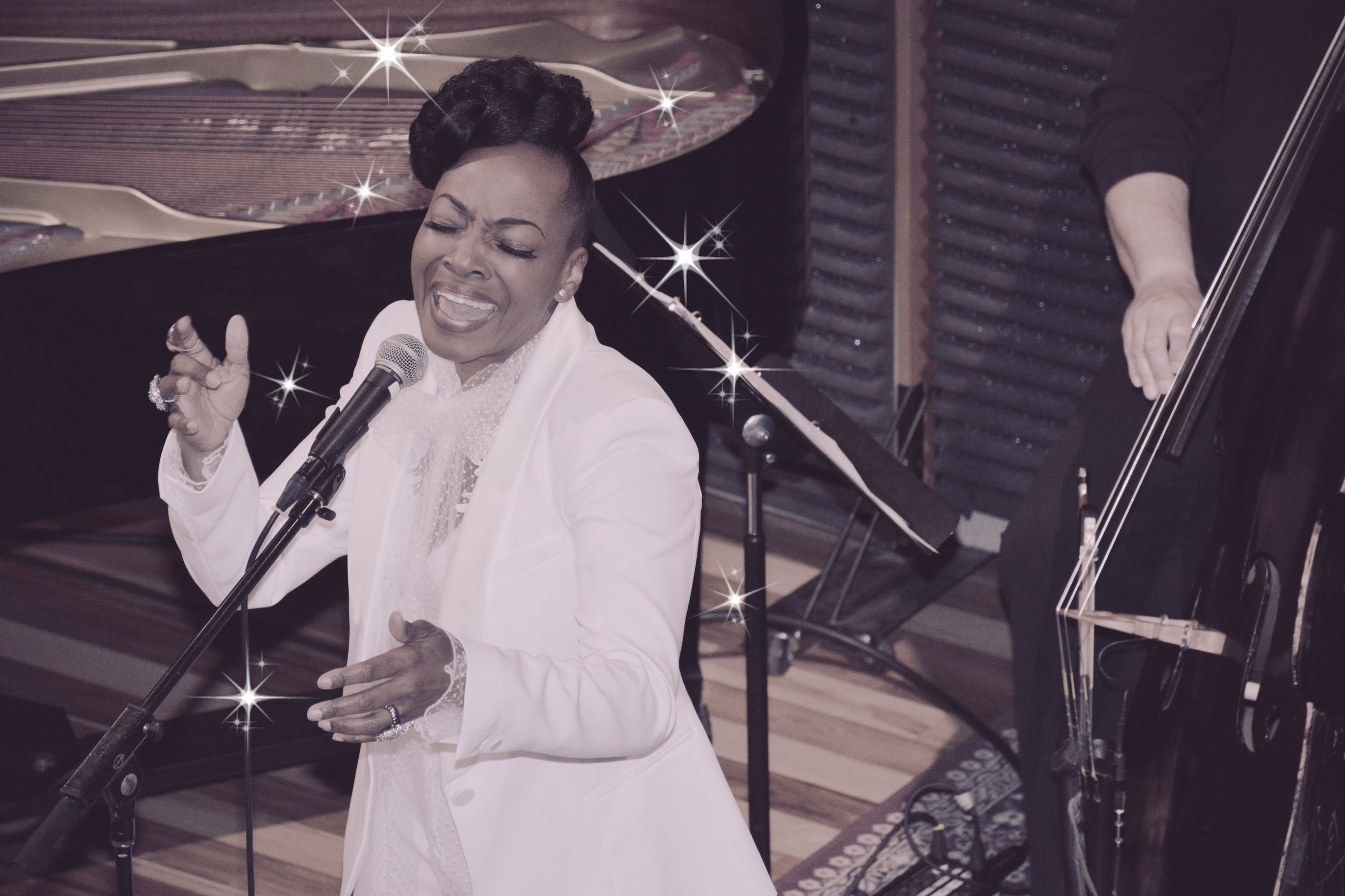 """""""…vocal prowess, stage presence and an elegance of yesteryear."""" - C. Michael Bailey 