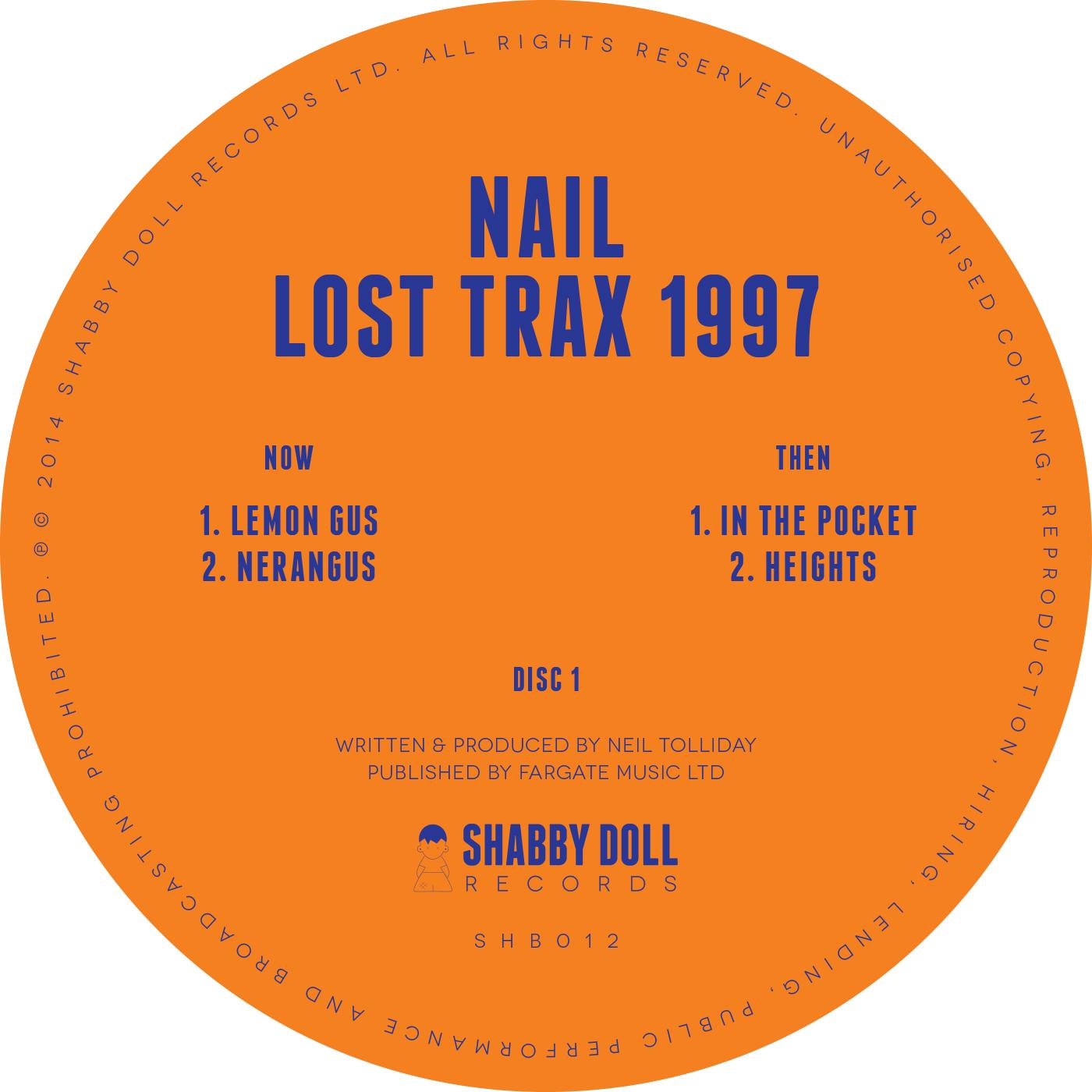 Nail - Lost Trax 1997 [SHB012]
