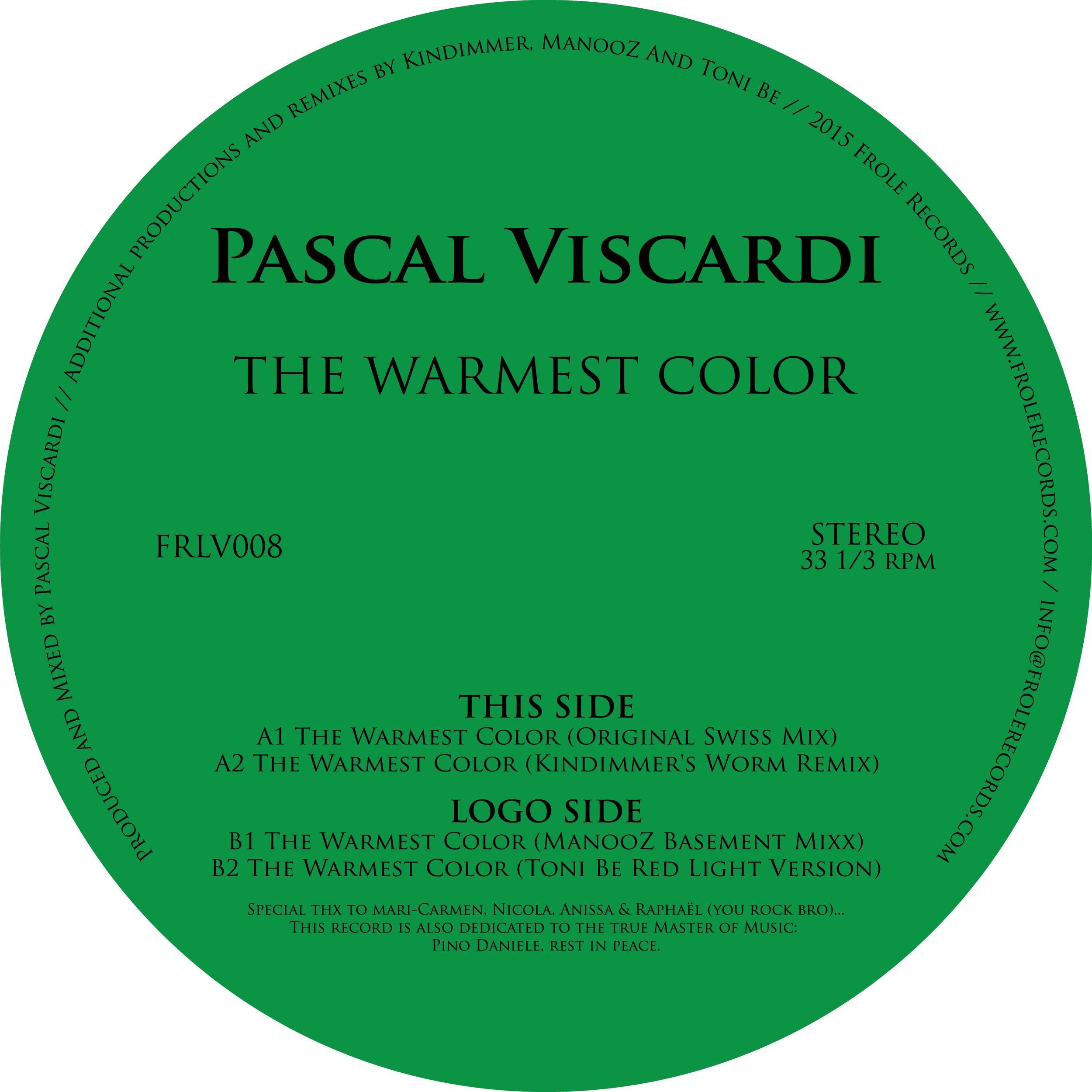 Pascal Viscardi - The Warmest Color [FRLV008]