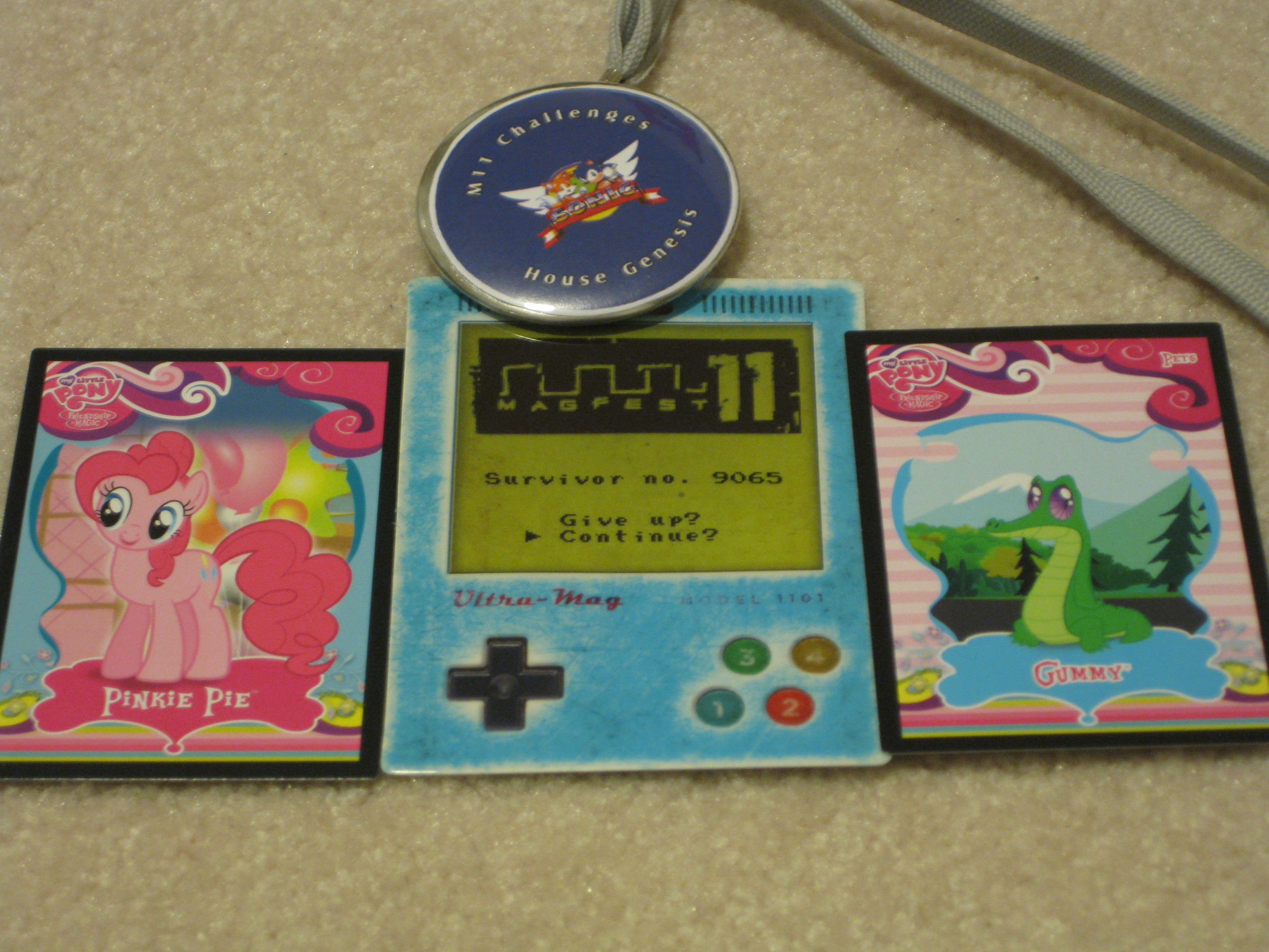 The badge, some MLP cards, and a Challenge spoil