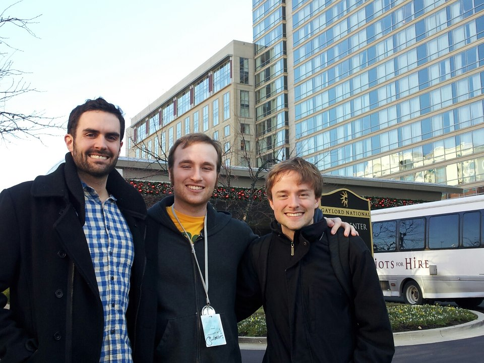 Brennan, me, and Brandon after a MAGFest well played!