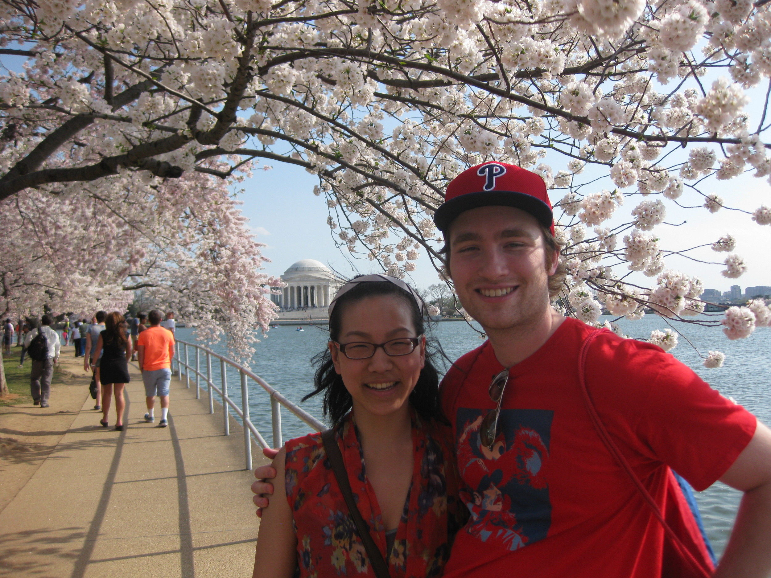 Jen and me checking out the Cherry Blossoms in D.C.!