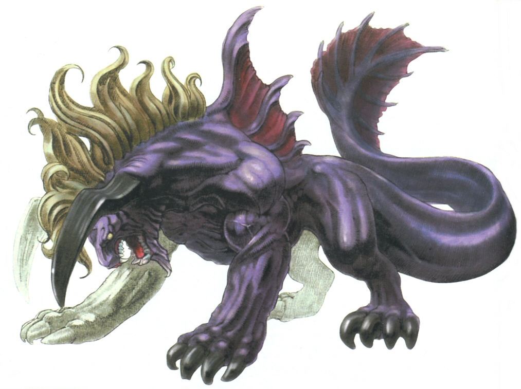 A Behemoth from  Final Fantasy IX