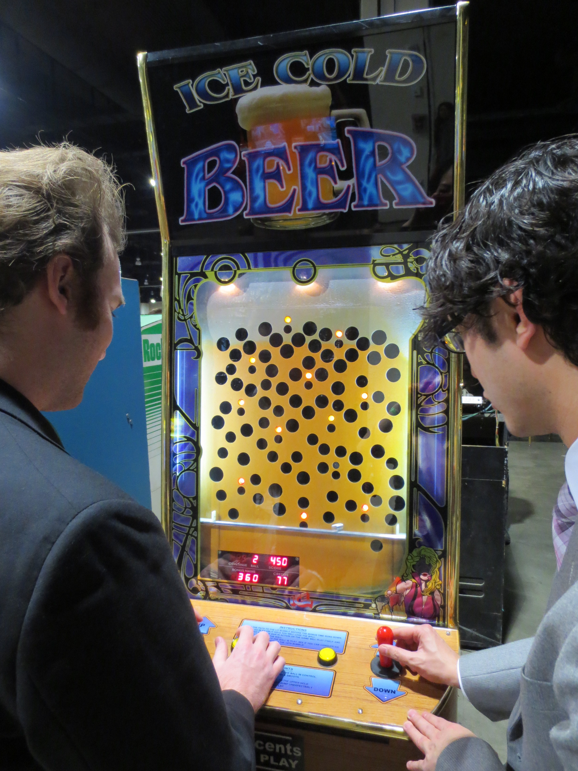 "Alex and I played this co-op ""beer"" game that was actually a lot of fun"