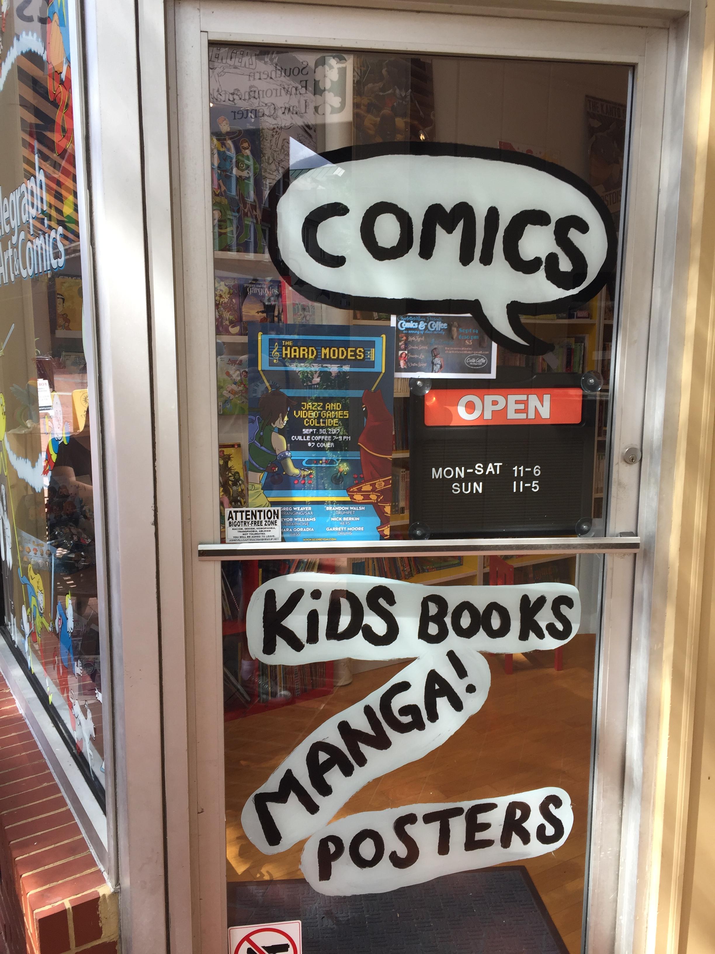 On display at Telegraph Comics!