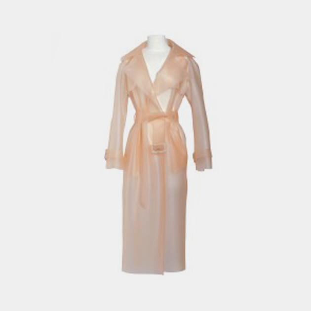 Wanda-Nylon-Powder-Matte-Trench-Coat