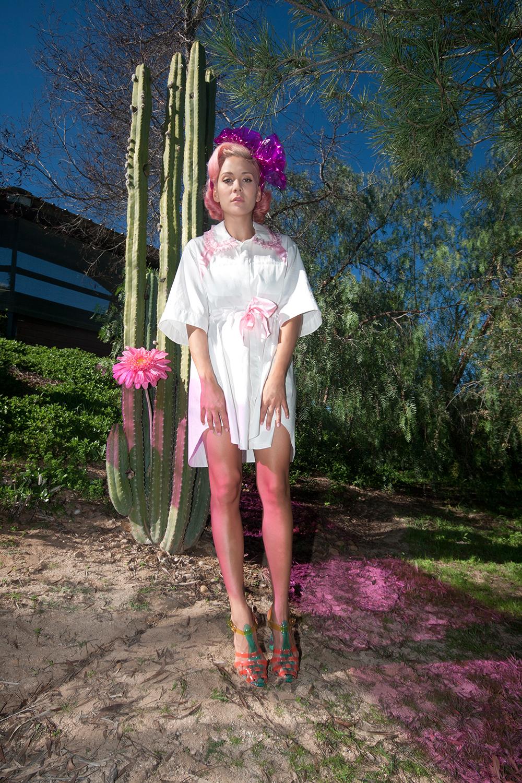 nicopanda-dress-pink-bow-ruffles-sophia-webster-jelly-heels