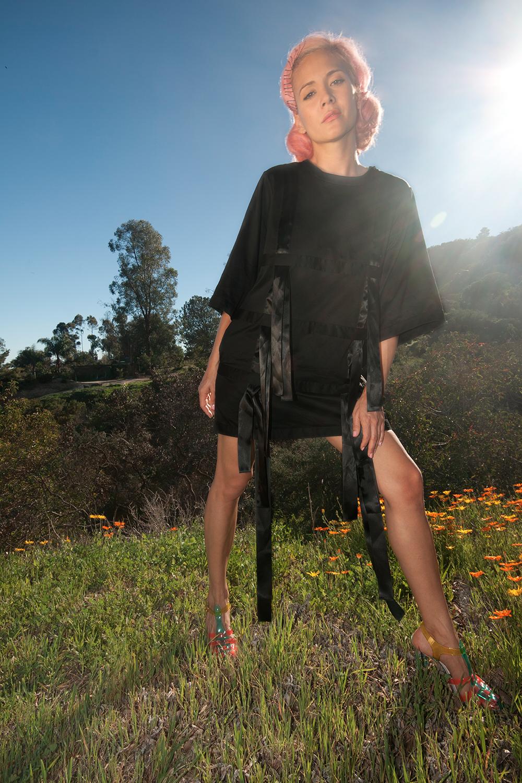 nicopanda-black-dress-satin-bows-sophia-webster-jelly-heels